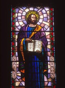 LOS ANGELES, UNITED STATES - Mar 06, 1992: St. Simon the Apostle