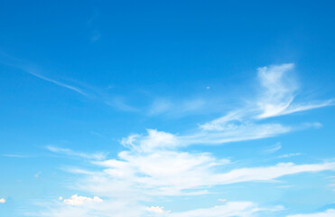 Blue sky background and white clouds soft Fotobehang