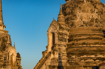 Ancient ruins of Thai temple in Ayutthaya heritage site
