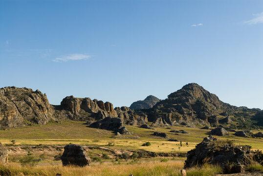 Panorama sur le Parc National de l'Isalo - Madagascar.