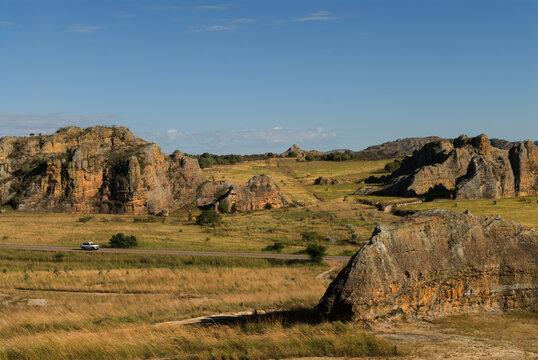 Panorama sur le Paysage, Parc National de l'Isalo - Madagascar.