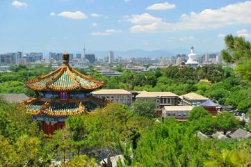 Fotobehang Beijing forbidden city in Beijing From top view point