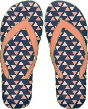 Colorful flip flops on a white  background - perfect for wallpaper or background