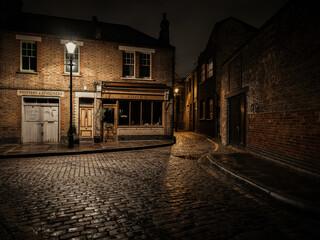 Narrow street in London Fotomurales