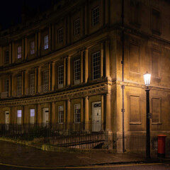 Night view in the city of Bath, United Kingdom