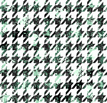 Seamless  houndstooth abstract mint green pattern