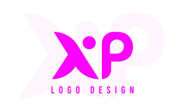 XP company linked letter logo Pink
