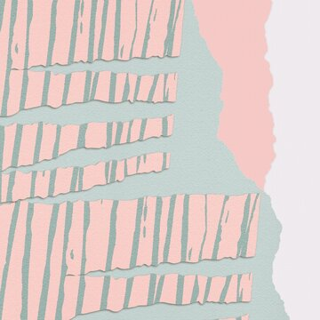 Illustration of a multicolored torn paper texture