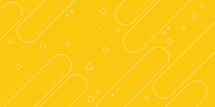 Modern abstract background with pastel yellow memphis elements and retro-themed posters, banners and website landing pages.