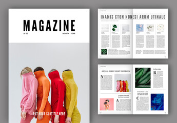 Minimalist Magazine Layout