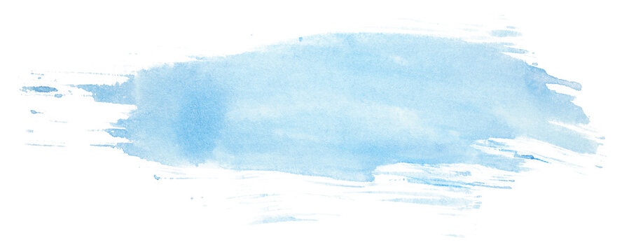 blue watercolor stain, brush stroke blue texture on paper