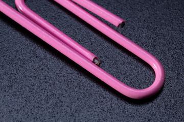 Pink Paper Clip Macro