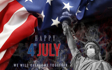 image background happy 4th of july day of independence of united states