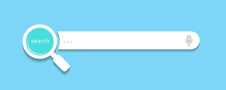 Search bar design for website or webpage user interface (UI) elements. Vector illustration