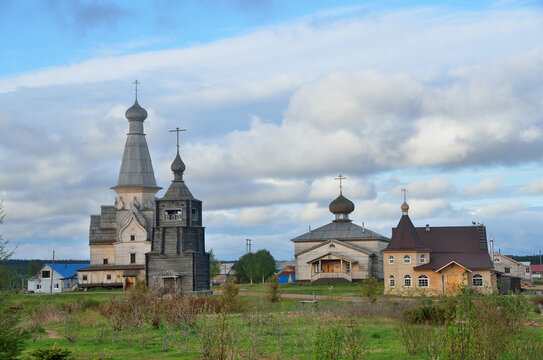 Russia, Murmansk region, Tersky district, the village of Varzuga. Ancient wooden churches