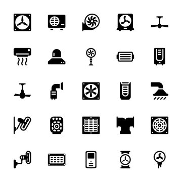 Cooling And Ventilation Icons