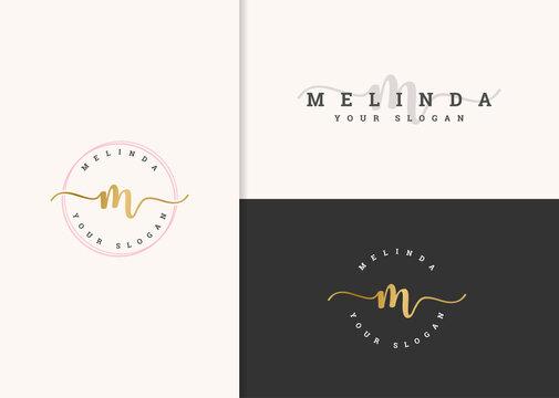 beautiful feminine logo design vector. fashion logo concept. modern design.