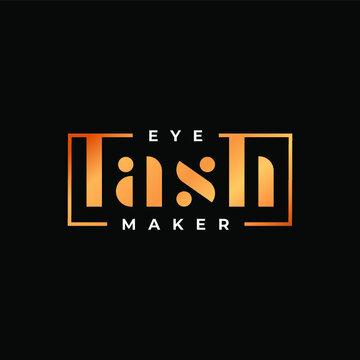 Premium eyelash extensions logo. Vector illustration of lashes. For beauty salon, lash extensions maker