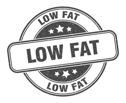 low fat stamp. low fat round grunge sign. label
