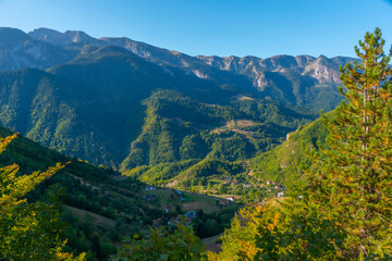 Rugova mountains and Prokletije national park in Kosovo