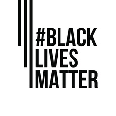 Black lives matter banner movement illustration for jobs, social networks and profile photo. Black background, white letters, black letters.