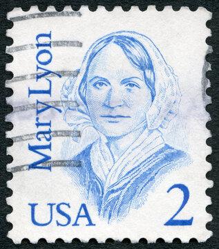 USA - 1980: shows Portrait of Mary Mason Lyon (1797-1849), Great Americans, 1980
