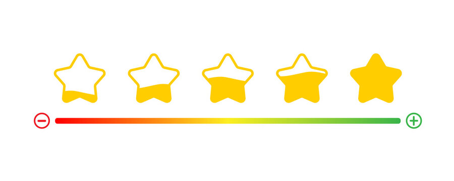 Customer service evaluation and satisfaction survey concepts. Feedback client, Consumer experience scale rating. Vector illustration icon emoticon flat design