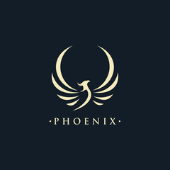 phoenix wing logo animal abstrac