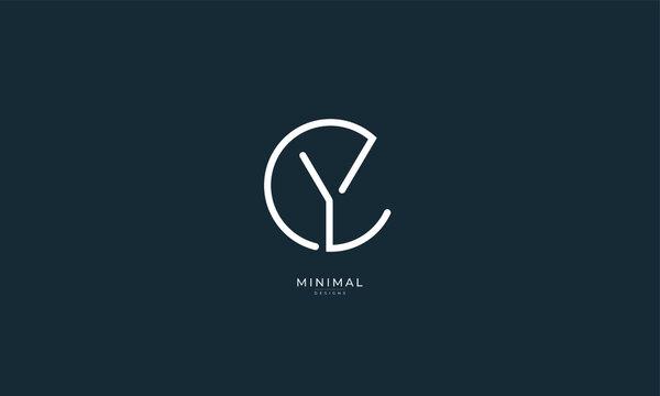 Alphabet letter icon logo YC or CY