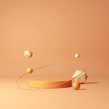 Mock up geometric shape podium for product design, 3d rendering, 3d illustration
