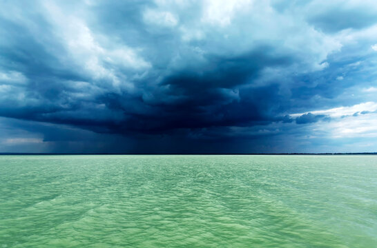 Storm at Lake Balaton, Hungary