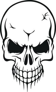 Skull SVG , skeleton SVG, Skull Clipart, Skull Cut Files