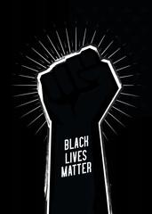 Black lives matter protest sign. Vector illustration.