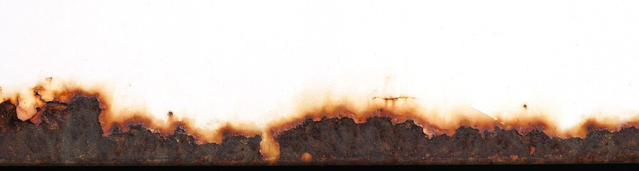 Rust of metals.Corrosive Rust on old iron.Use as illustration for presentation.Background rust texture as a panorama.
