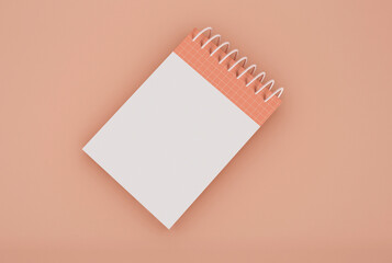 3D Illustration. Spiral blinder notebook mockup.