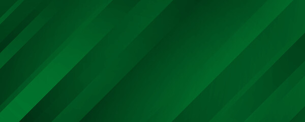 Geometric Green Background with Diagonal Stripes and Gradients. Vector Minimalist Backdrop for Irish St. Patrick Day