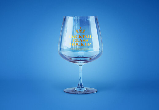 Realistic Cocktail Glass Mockup