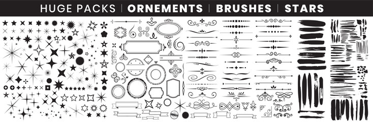 Full Pack Ornements Brushes stars