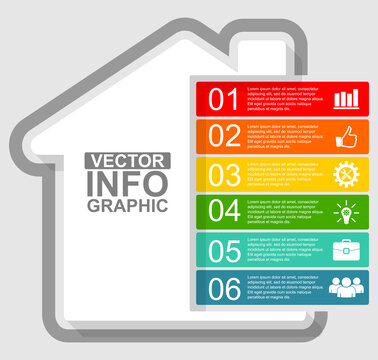 Vector infographic template for presentation, diagram, home , house concept illustration
