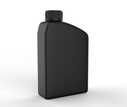 Blank  Mini Plastic Jerry Can For Branding And Mock up, 3d Render Illustration.