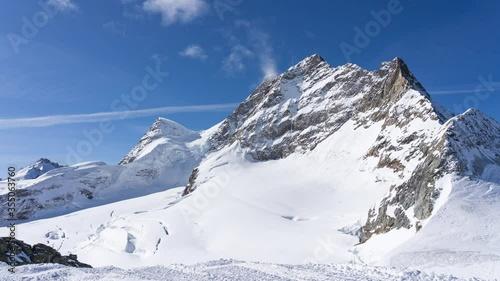 Wall mural Jungfrau with blue nice sky in Switzerland