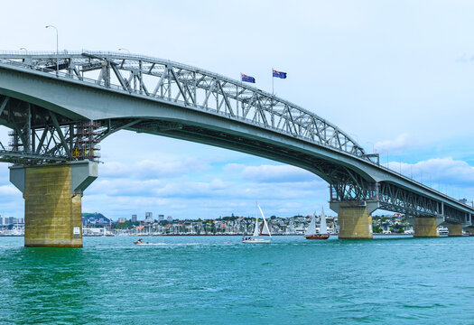 View to the Harbour Bridge from Northcote Point Auckland, New Zealand