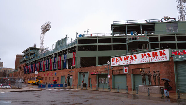 Boston Fenway Park - Home of the Red Sox - BOSTON. USA - APRIL 5, 2017