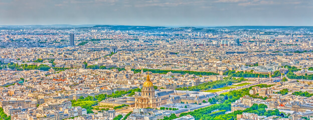 Panoramic view of Paris, France Fototapete