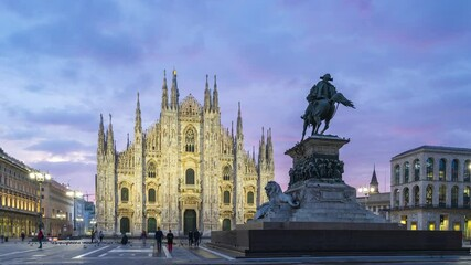 Wall Mural - Time lapse of Duomo of Milan in Italy.