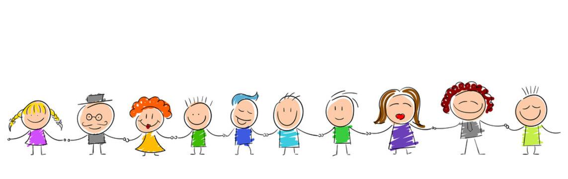 bambini per mano, girotondo, scuola,