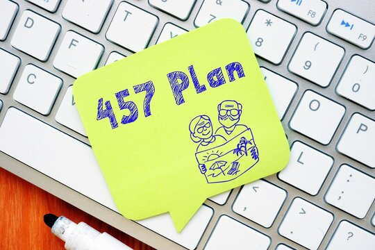 Business concept meaning 457 Plan with inscription on the page.