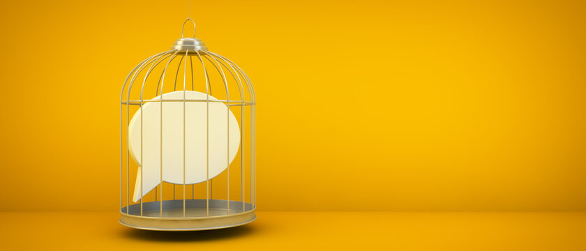 comment icon on a cage