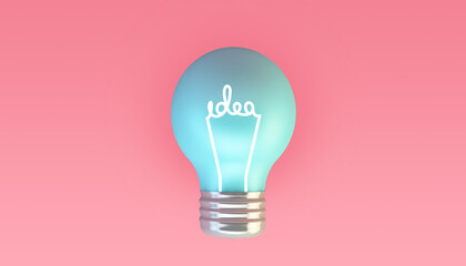 Idea blue lightbulb