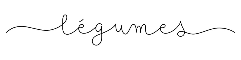 Calligraphie vecteur noir LEGUMES